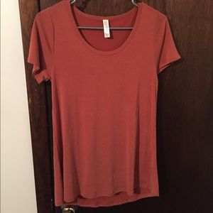 XXS Classic T LulaRoe burnt orange rayon